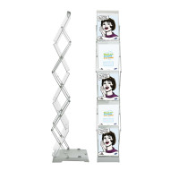 Brochure Stand Double incl hard case